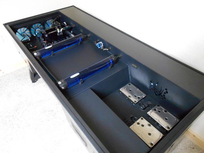 Компьютер вмонтированный в стол своими руками 69