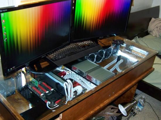 Компьютер вмонтированный в стол своими руками 43