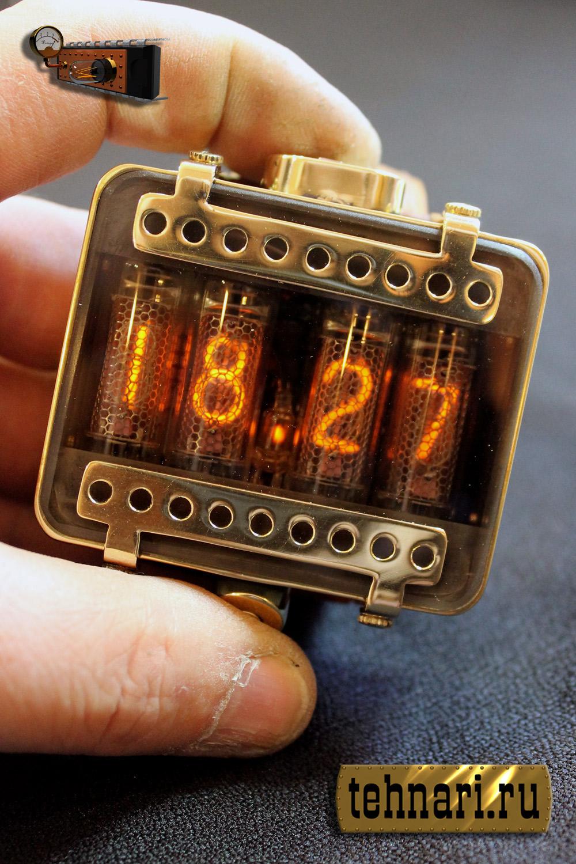 Часы своими руками на лампах