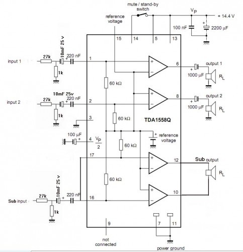 схемы 2 1 усилитель для компьютера - Практическая схемотехника.