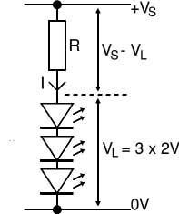 Рассчитать сопротивление для светодиода